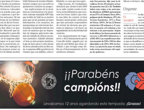 Parabéns, campións – La voz de Galicia